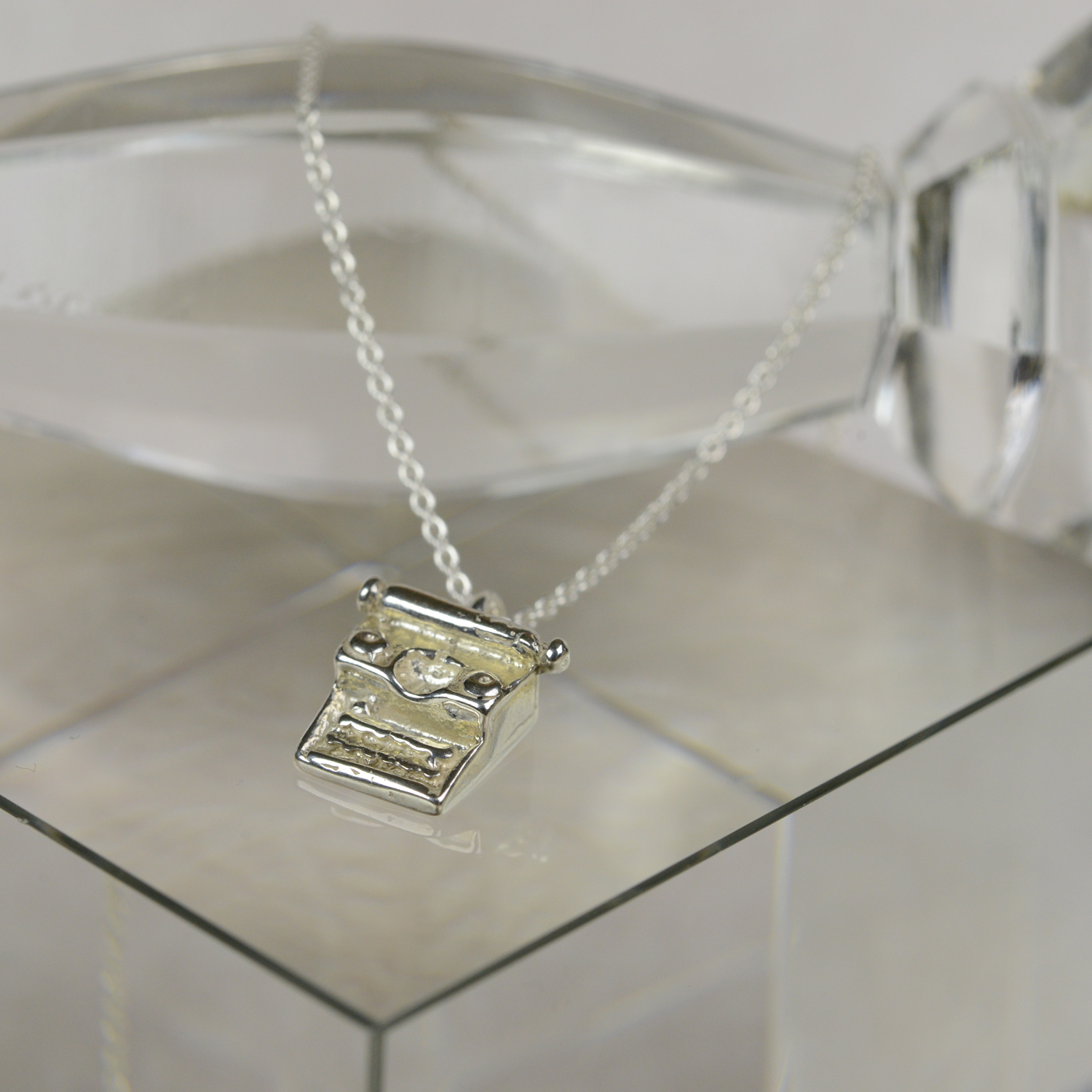 sterling silver typewriter necklace home
