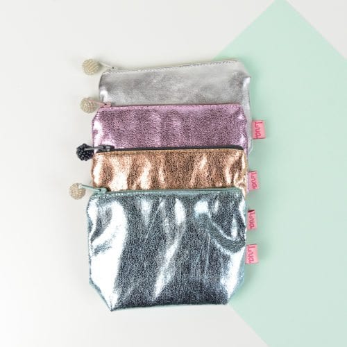 Mini metallic purse