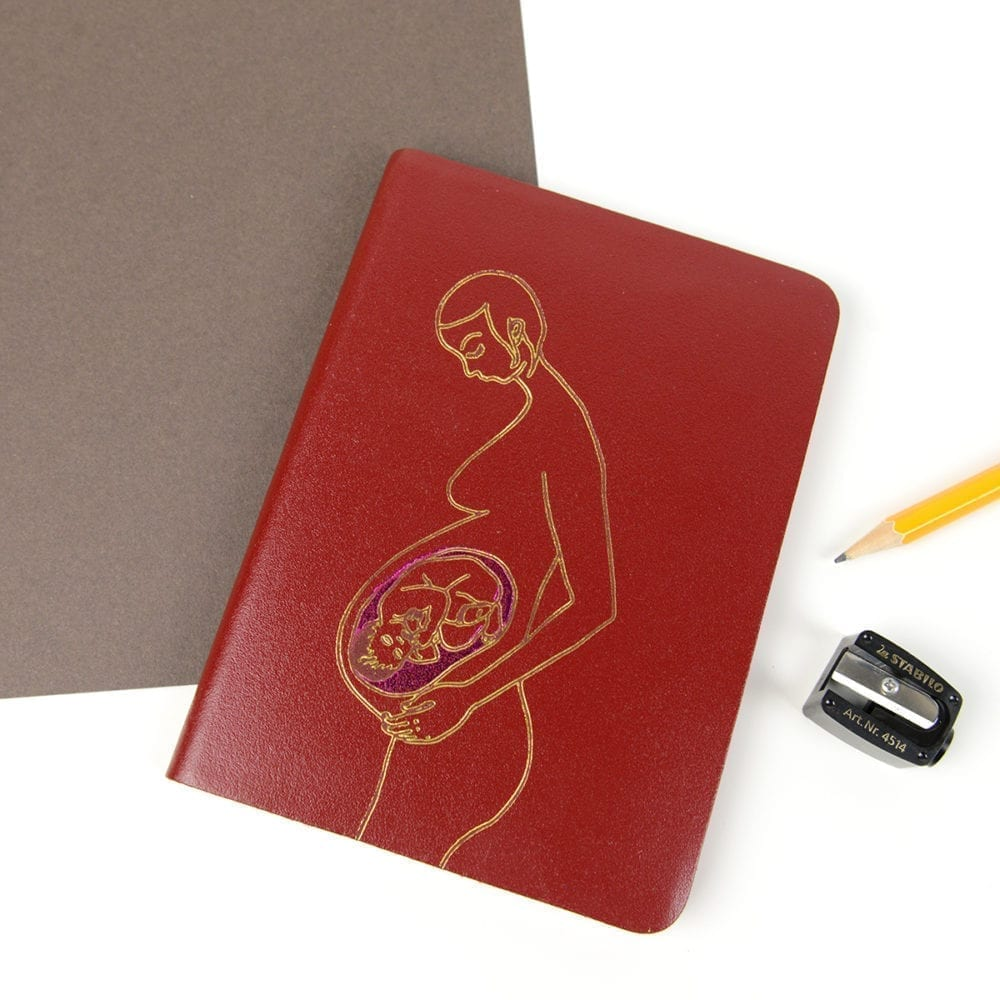 Leather Pregnancy Journal.